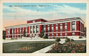 SYRACUSE NEW YORK-STATE FORESTRY COLLEGE-LOT OF 2 1933 PSTMK POSTCARDS