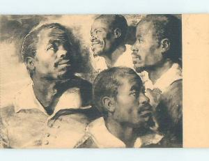 Pre-Linen black americana postcard HL9768