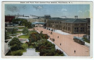 Providence, R.I., Depot and Park from Central Fire Station