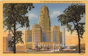 City Hall & McKinley Monument Buffalo NY Unused