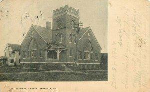 Knoxville Illinois Methodist Church #270 Printery 1907 Postcard undivided 10428