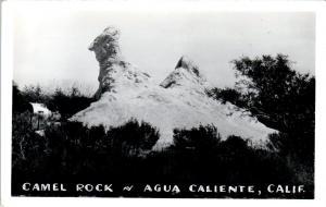 RPPC  AGUA CALIENTE , CA  California  View of   CAMEL ROCK  c1950s   Postcard