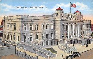 Tennessee Train Postcard Union Station Memphis, Tenn., USA Unused