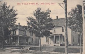 CEDAR FALLS, Iowa, 1900-10s; 2001 & 2005 Normal Street Residences