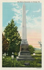 Bob Morris Monument at La Grange KY Kentucky Founder of Order of Eastern Star WB