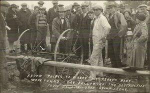 Bath MI School Tragedy Mass Murderer Maniac Kehoe Body MaCabre 1927 RPPC xst