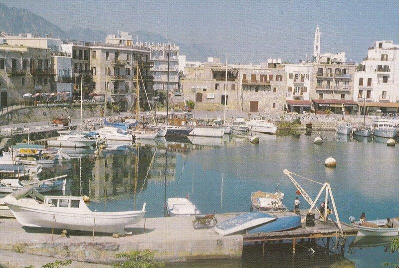 GIRNE, Cyprus, 1950-1970s; Girne Limani, Sailboats At Harbour