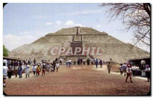Postcard Old Piramide del Sol The Sun Pyramid to San Juan Teotihuacan Mexico