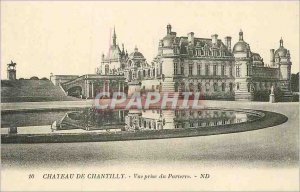 Postcard 10 Old castle chantilly view from the lawn