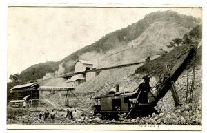 Panama - Canal Zone. Steam Shovel Digging the Canal