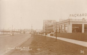 Packard Car Factory Works Great West Road Brentford Real Photo Postcard