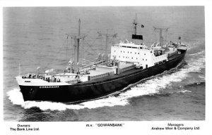 MV Gowanbank Bank Line Ship Unused