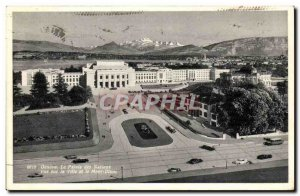 Switzerland Postcard Old Palace of Nations views of the city and Mont Blanc