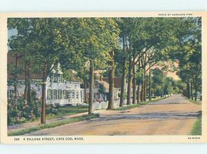 Unused Linen STREET SCENE Cape Cod Massachusetts MA W1459