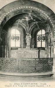 France - Paris, St. Dennis Abbey, Crypt, Chapel of the Virgin