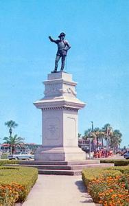 FL - St. Augustine. Ponce de Leon Monument & Circle
