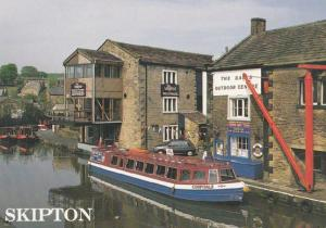 The Skipton Waterfront Nightclub Disco 1990s Dales Boats Outdoor Centre Postcard