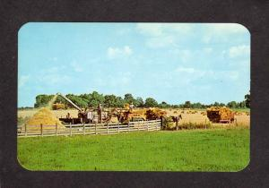 IN Amish Farm Farming Farms Horses Indiana Postcard Amish Country Horse Drawn