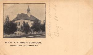 Manton Michigan~Manton High School~Soldiers Reunion August 1906~Postcard