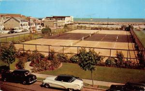 Wildwood-by-the-Sea New Jersey~Fox Park~Playing Tennis~NICE Classic Cars~1957 PC