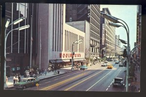 Chicago, Illinois/IL Postcard, State Street, Woolworth's, Downtown, Old Cars