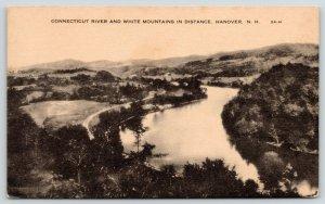 Hanover New Hampshire~Birdseye Train Tracks Follow Connecticut River Curves~1930