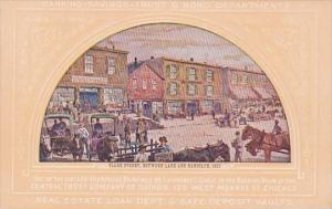 Clark Street Between Lake and Randolph 1857 Painting In Central Trust Company...