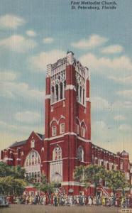 Florida St Petersburg First Methodist Church 1949 Curteich