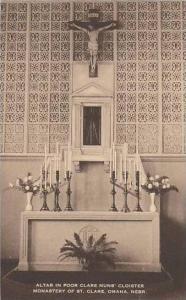 Nebraska Omaha Alter In Poor Clare Nuns Cloister Monastery Of St Clare Artvue