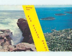 Pre-1980 TWO VIEWS ON CARD Bar Harbor Maine ME ho7561