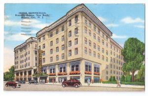 Hotel Monticello Atlantic City NJ 1945 Kropp