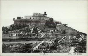 Fortaleza Villa del Cerro Montevideo Uruguay Real Photo Postcard LIGHTHOUSE