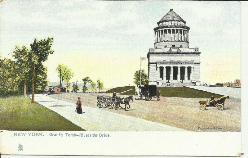 New York, Grant's Tomb, Riverside Drive  TUCK