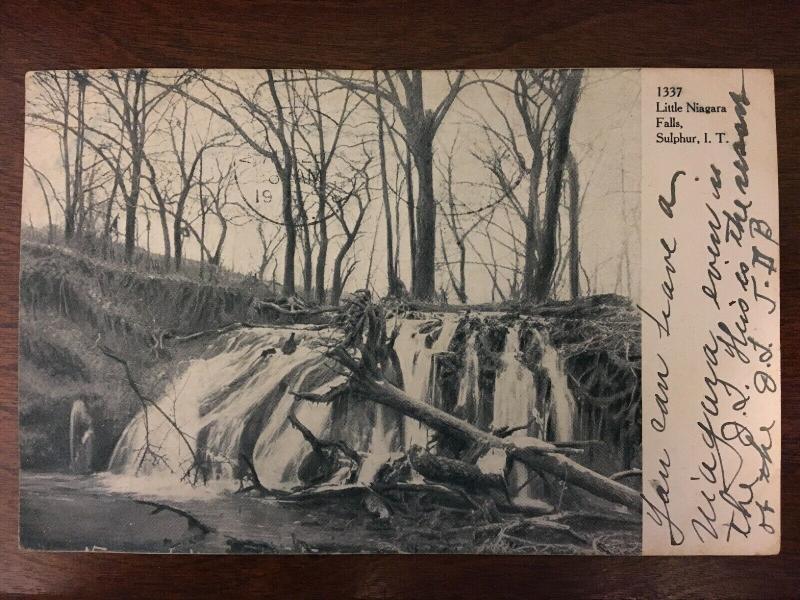 1906 Little Niagara Falls, Sulpher, I.T., Oklahoma OK d19