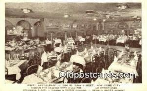 Wivel Restaurant, New York City, NYC Postcard Post Card USA Old Vintage Antiq...
