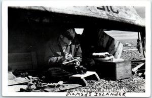 DIOMEDE ISLANDS Real Photo RPPC Postcard Russia Alaska Eskimo Craftsman 1930s