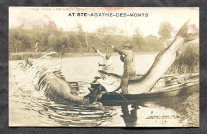 4881 - Canada FISHING EXAGGERATION. Quebec. Real Photo Postcard