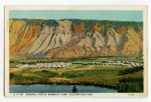 Postcard General View Mammoth Camp Yellowstone Park Wyoming Standard View Card