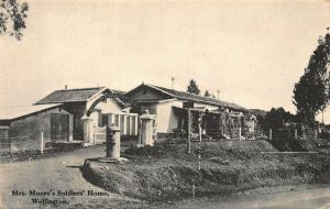 New Zealand Mrs Moore's Soldiers Home Wellington Postcard