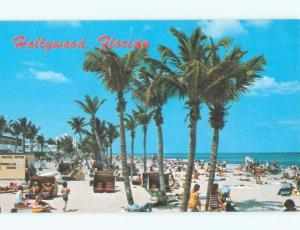 Pre-1980 UMBRELLA & CHAIR RENT BUSINESS AT BEACH Hollywood By Miami FL d6810-12