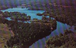 Canada Aerial View Madawaska River Near Barrys Bay Ontario