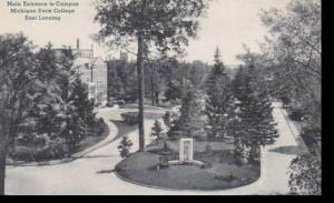 Michigan East Lansing Main Entrance To Campus Michigan State College Albertype