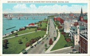 USA Esplanade Along Charles River Showing West Boston Bridge Massachusetts 04.94