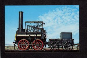 Delaware and & Hudson Railroad Train Stourbridge Lion Locomotive Postcard PC