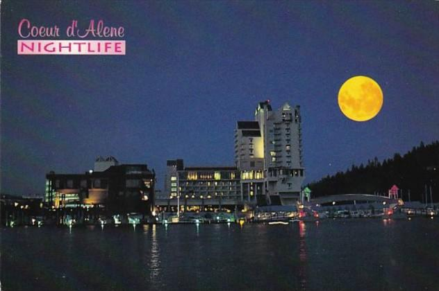 Idaho Coeur d'Alene At Night