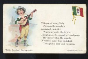 SWIFT'S PREMIUM OLEO MARGARINE VINTAGE ADVERTISING POSTCARD ITALY FLAG