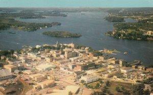 KENORA, Ontario, 1967; Aerial View, Lake of the Woods