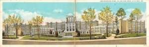 LITTLE ROCK, AR Arkansas   NEW SENIOR HIGH SCHOOL   c1920's Double Size Postcard