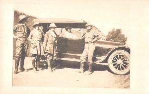 People With Car Old Auto Real Photo Vintage Postcard JA4742504