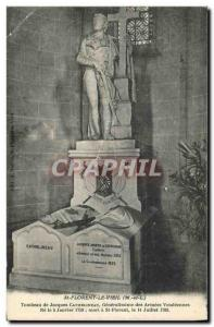 Old Postcard St Florent the Old Tomb of Jacques Cathelineau Generalissime of ...